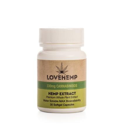 Love Hemp CBD Softgel Capsules - Natural