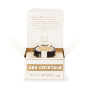 Endoca Cannabis Crystals 99% CBD 500mg.