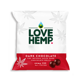 Love Hemp CBD Dark Chocolate Bites 250g- 100mg CBD - Family Pack