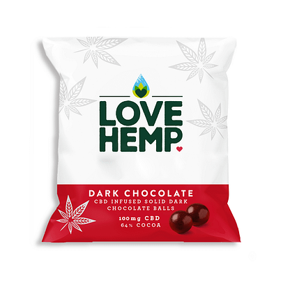 Love Hemp CBD Dark Chocolate Bites 250g- 100mg CBD - Family Pack