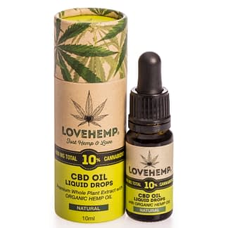 Love Hemp CBD Oil 10% - Natural - Peppermint -Orange