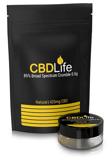 85 Crumble 0.5g broad spectrum cbd