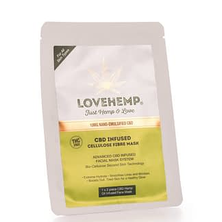 Love Hemp CBD Infused Cellulose Fibre Face Mask – 10mg