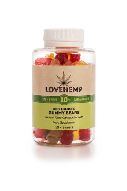 Love Hemp CBD Gummy Bears - Natural and Sugar Free
