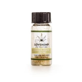 Love Hemp Lemon Haze Terpene Infused CBD Crystals – 95% CBD + 5% Terpenes – 250mg-1000mg - Natural
