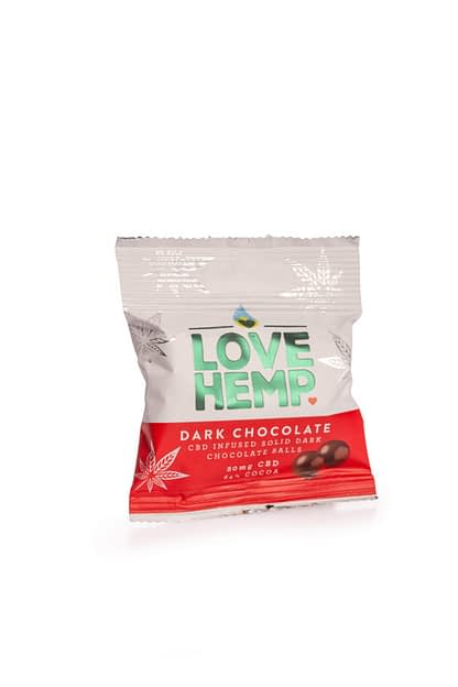 Love Hemp CBD Dark Chocolate Bites 50g- 20mg CBD