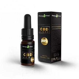 PharmaHemp CBD Premium Black Aqua Drops 20% - 10 ml.