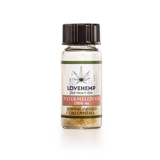 Love Hemp Watermelon OG Terpene Infused CBD Crystals – 90% CBD + 10% Terpenes – 250mg-1000mg - Natural