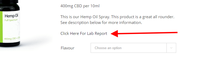 Check for CBD lab test