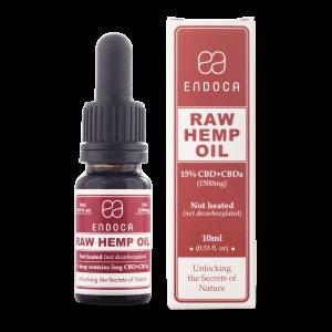 Endoca RAW CBD Hemp Oil Drops 1500 mg. (15%) - 10 ml.
