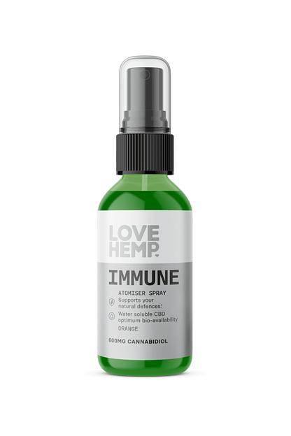 Love Hemp Immune CBD Oil - Orange Atomiser Spray - 600mg Love Hemp