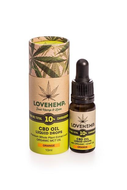 Love Hemp CBD Oil 10% - Natural - Peppermint -Orange